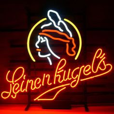 New Leinenkugels Beer Real Neon Beer Bar Pub Sign///How I love you neon signs , Real nice for my Home Bar Deco