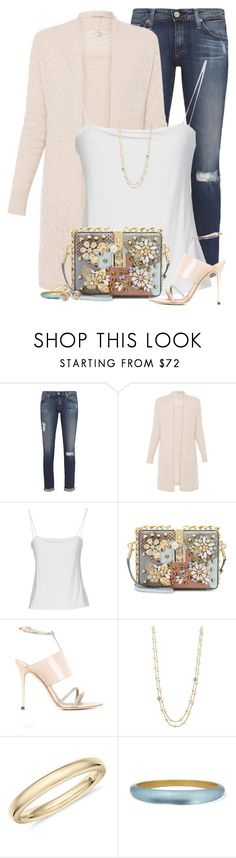 """""""Monday morning"""" by houston555-396 ❤ liked on Polyvore featuring AG Adriano Goldschmied, Giorgio Armani, Dolce&Gabbana, Giuseppe Zanotti, Marco Bicego, Alexis Bittar and Blue Nile"""