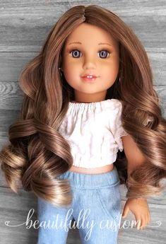 """18/"""" Doll Wig 10-11/"""" Golden w// Bangs BIN"""