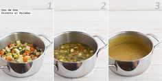Crema de verduras, pollo y bacon. Receta paso a paso Pan Frito, Dog Food Recipes, Chicken, Salads