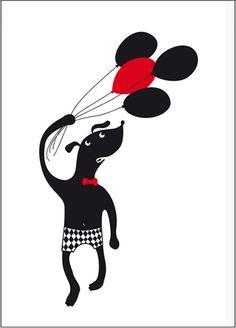 Köp Ejvor Poster Hund ballong | Barnrummet På väggen | Jollyroom