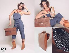 """Fashionjenn Handbag Shoot: """"Okay, wait a sec, I just need to step into these horrible boots...adjust this heinous headband...cinch up this shapeless jumpsuit...THERE. Now I am at the exact height of fashion. Suck it, Klum!"""""""