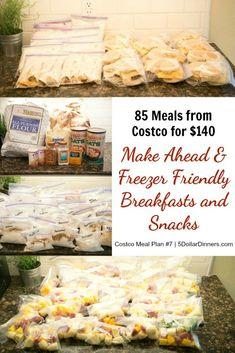 85 Freezer Friendly & Make-Ahead Breakfast & Snacks for $140 – Reclaim Your Frantic Weekday Mornings! | 5DollarDinners.com