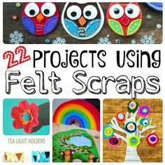 Wonderful Projects using Felt Scraps or small pieces of scraps. We have a great…