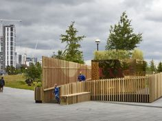 Projects by pH+ Architects for expansion of the London Centre for Children with Cerebral Palsy (LCCCP) in Haringey, London, designed in collaboration with BD Landscape Architects, include a series of indoor and outdoor spaces that capture children's imagination, intended to permit learning through play: a rooftop garden of the senses, an outdoor kitchen and a treehouse.