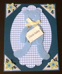 Baby Boy Card Blue Baby Card by GloriasPaperBoutique on Etsy