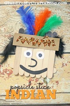 Popsicle Stick Indian - Kid Craft Idea