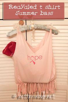 make a t shirt bag - NO SEWING involved!