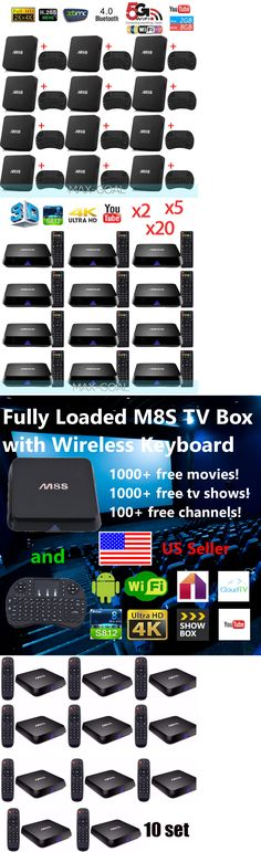 Home Audio: M8s Fully Loaded 4K Android 6.0 Smart Tv Box Quad Core Free Keyboad I8 Lot Oy BUY IT NOW ONLY: $699.95