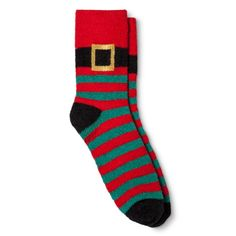 Women's Cozy Crew Socks Holiday Santa Suit Red One Size