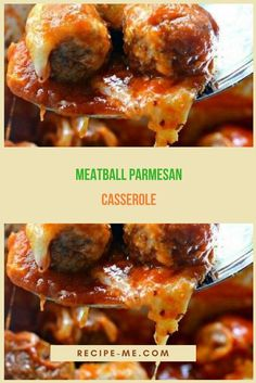 What you need: 1 bag of frozen meatballs, cooked according to package directions pasta sauce Ww Recipes, Italian Recipes, Crockpot Recipes, Cooking Recipes, Casserole Dishes, Casserole Recipes, Parmesan Meatballs, Hamburger Recipes, Recipes