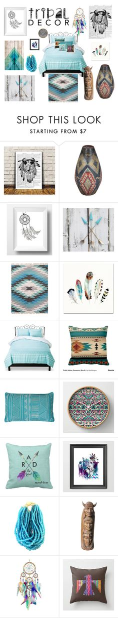 """""""Native American Tribal Decor"""" by sarahlynnmurphy ❤ liked on Polyvore featuring interior, interiors, interior design, home, home decor, interior decorating, Dot & Bo, Xhilaration, Thro and tribaldecor"""