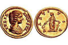 Julia Domna. Augusta, AD 193-217. AV Aureus (20mm, 7.15 g, 12h). Rome mint. Struck under Septimiu