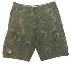 LEVI Strauss Cargo Shorts 38 Camouflage Brown Faded Hunting Hiking Camo   | eBay