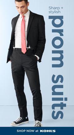Mens Dress Outfits, Men Dress, Stylish Prom Suits, Dress Shirt And Tie, Suit Shop, Golf Outfit, Ladies Golf, Mens Suits, Black Pants