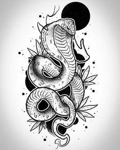 Sketch Tattoo Design, Tattoo Sketches, Tattoo Drawings, Drawing Sketches, Blackwork, Copic Marker Drawings, Organic Tattoo, Tattoo Flash Sheet, Snake Art