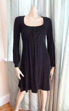 Black Ruched 3//4 Sleeve Knee Length Maternity Dress RRP £45