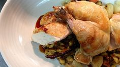 Roast chicken with pretzel stuffing from The Arsenal.