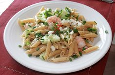 The Cultural Dish: Pasta with Roasted Shrimp and Cucumbers