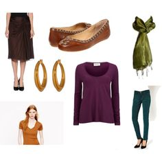 Dark Autumn Color Combinations by catelinden on Polyvore featuring American Vintage, Alberta Ferretti, MiH Jeans, Frye and Lauren Ralph Lauren