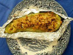 Receita de Courgette no forno recheada .:. Kitchenet .:. Livro de culinária do aeiou