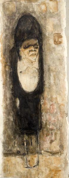José Luis Cuevas, Woman (Asylum Figure), 1954 escultor pintor mexicano