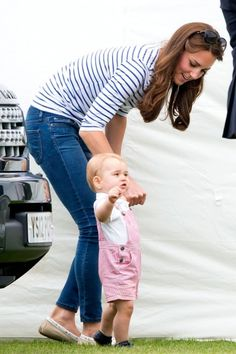 Kate and Prince George at Prince William's polo match - 15th June 2014 - Marie Claire
