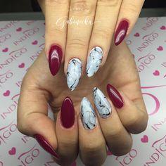 #marblenails #indigo #longnails #nails #gelnails #nailsaddict