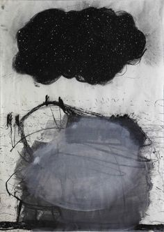 """Kevin A. Rausch, """"Blow-Up"""", mixed media on paper"""