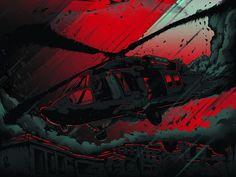 """61 Going Down"" by Peter Gutierrez #61 #black-hawk #black-hawk-down #blackhawk #copter #film #films #gutierrez #helicopter #imagined-worlds #movie #movies #peter-gutierrez #ridley #ridley-scott #scott"