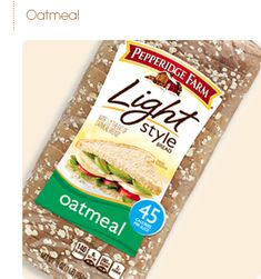 Light Style Oatmeal Bread. 45 calories a slice allows me to eat bread ...