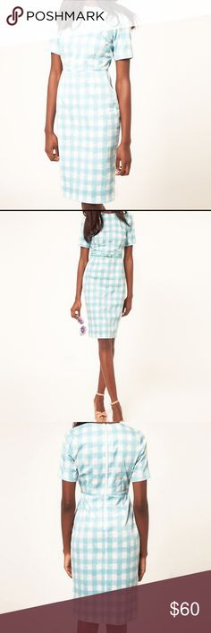 ASOS Pastel Gingham Pencil Dress NWOT, never worn, beautiful dress! (Sadly a bit too tight on me). Nice quality material, has a bit of stretch. Dress it up or down, great summer dress! ASOS Dresses