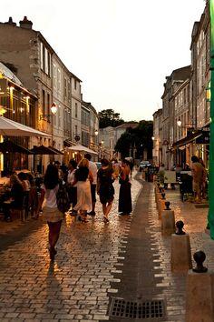 Evening in La Rochelle, France