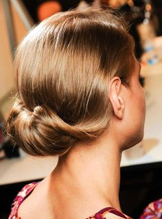 The Side Parted Twisted Low Bun Wedding Updo hairstyles