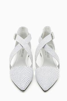 Shoe Cult Viper Flat - White