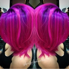 Fuchsia Pink Hair and Purple Hair Color by Stephanie Rose www.hotonbeauty.com