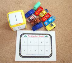 car counting, abc, plus other learning activities involving cars
