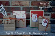 September 2015 paper pumpkin, alternate ideas, #paperpumpkin #stampinup #crazybeyoutifulstudio