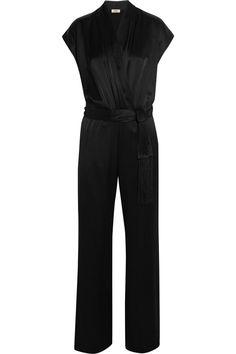 L'AGENCE Araceli satin jumpsuit. #lagence #cloth #jumpsuit