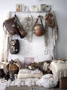 boho, i love this its like an organised mess!