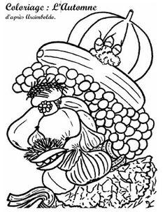 Coolest Coloriage Automne Arcimboldo at SuperColoriage Giuseppe Arcimboldo, Autumn Leaves Craft, Autumn Art, Middle School Art, Art School, Artists For Kids, Art For Kids, Art Worksheets, Ecole Art