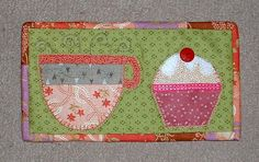 Tea and Cake Mug Rug by The Patchsmith, via Flickr