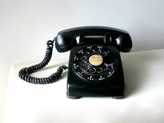 old phone print found at CaptainCat on Etsy.