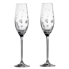 Twinkle Toasting Flutes - Set of 2 - by Royal Doulton Royal Doulton continues its worldwide reputation for excellence and quality of design with these stunning stemware choices. Decorated with contemporary cuts and hand-applied Swarovski crystals, Champagne Ice Bucket, Crystal Champagne, Reindeer Decorations, Wood Wick Candles, Toasting Flutes, Royal Doulton, Online Shopping Stores, Twinkle Twinkle, Drinkware