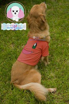 Mascota: Ámbar Talla: 6 Estampado y color: Charmander (coral).  Fotografía: Tatiana Rodriguez Diseño: América García