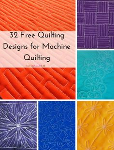 32 Free Quilting Designs for Machine Quilting | Don't miss our updated collection of gorgeous free motion quilt patterns!