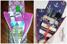 Dokonce i jako taštička na kosmetiku, léky, make-up, Globolis, kapesníky nebo dezinfekčních utěrek může být převeden Rosi.  (Šití a vzor shesmile)