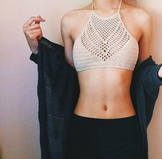 Arrowhead Halter Crochet top