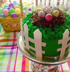 Easter Egg Nest Cake. Made of fondant, coconut and candy | urbanbakes.com