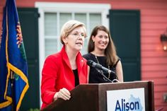 Elizabeth Warren with Alison Grimes in Kentucky—let's get a lot more of this!  Vote BLUE - they are the only ones looking out for YOU!  Elizabeth Warren scares the crap out of a lot of people, most of them on Wall ...